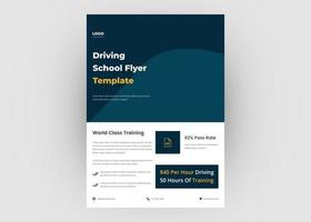 Driving school flyer design vector