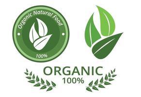Natural organic label or badge, vector design
