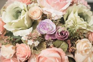 ramo de flores de fondo - filtro de efecto vintage foto