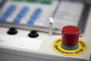Red Alarm Button used for Emergencies photo