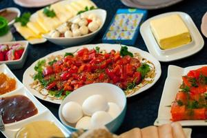 mesa de desayuno turco tradicional foto