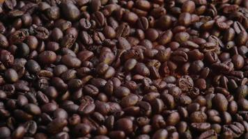 Raining Roasted Coffee Bean Background video