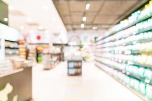 Desenfoque abstracto y supermercado desenfocado para el fondo foto