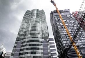The high-rise building under construction photo