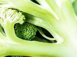 Detail of the succulent fresh inside the Broccoli photo