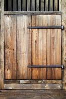 Rustic antique wooden door. photo