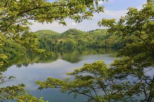 Volcanic Lake in Africa photo