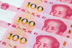 Chinese One Hundred Yuan Banknotes photo