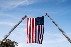 American flag hanging photo