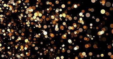 deeltjes goud bokeh glitter awards stof abstracte achtergrond lus video