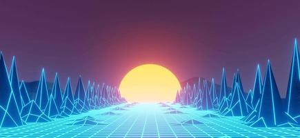 Fundo retro futurismo dos anos 80 video
