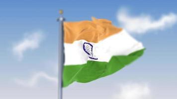 bandera india del día de la independencia volando video gratis