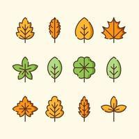 Autumn Leaves Icon Set vector