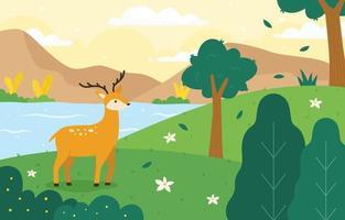 Beautiful Landscape Nature Background vector