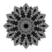 simplicity line art floral mandala design of design element vector