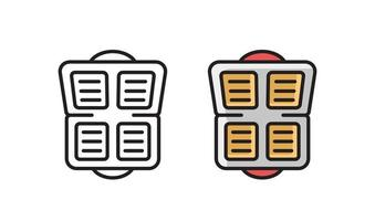 Waffle Iron - linear icon. Simple line vector symbol.