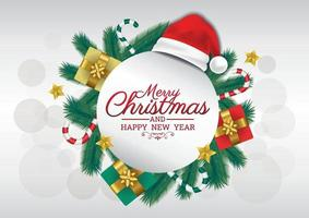 merry christmas art vector new year label