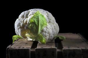 Cauliflower in dark food photography style photo