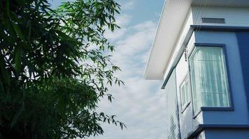 el ambiente de la casa fuera del día con el jardín de bambú video