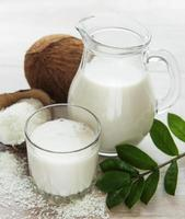 Fresh coconut milk photo
