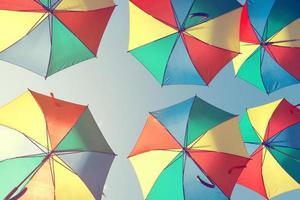 paraguas de colores vintage foto