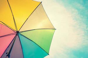 colorido paraguas vintage foto