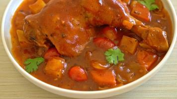 Homemade Chicken Stew with Tomato, Onions, Carrot video