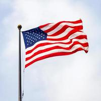 The United States of America flag on a sunny day. photo