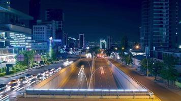 Time-lapse Traffic At Rush Hour. Fantastic Night Traffic video