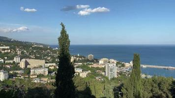 City Landscape with A View of Yalta, Crimea. video