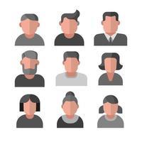 human avatars set vector