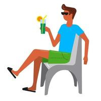 guy with a cocktail vector