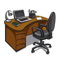 office workplace illustration vector