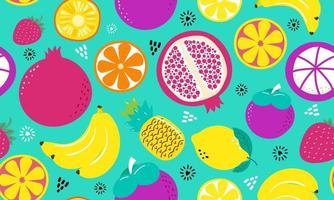Seamless pattern mix fruits vector