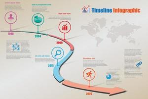 Business roadmap timeline infographic pointer designed template vector