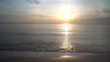 sunrise over the sea video