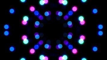 Neon Circle Light Bokeh Loop Background video