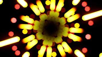 Bokeh de racha de luz amarilla giratoria video