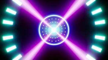 Fast Rotation Neon Light Propeller Loop video