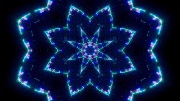 Luz púrpura parpadeante y línea azul extendida video