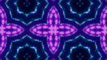 forma de cruz parpadeante púrpura caleidoscopio azul claro video
