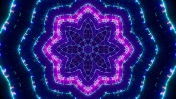 extendiendo formas de líneas azules y luz púrpura parpadeante video