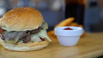 Beef Burger with Cheese video