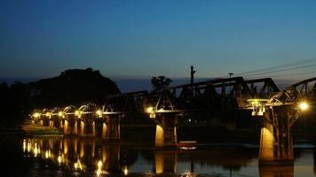 time-lapse at the River Kwai Bridge video