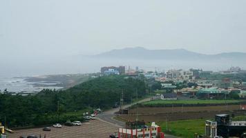 A Time-Lapse of The Jeju City Skyline in Jeju Island, South Korea video