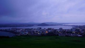 Time-Lapse Jeju City Skyline in Jeju Island, South Korea video