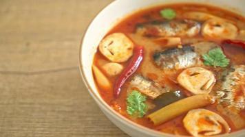 Mackerel in Spicy Tom Yum Soup video