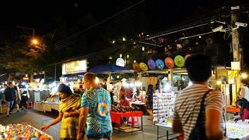 Time-Lapse Chiang Mai Night Market Street in Thailand video