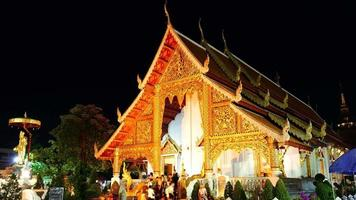 Time-lapse Wat Phra Singh in Chiang Mai, Thailand video