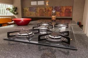 details of a cooktop stove in a kitchen in rio de janeiro. photo